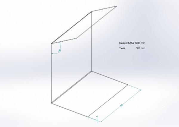 Schutzwand gekantet 1000 x 800 x 500 mm - PSE Technik GmbH & Co. KG