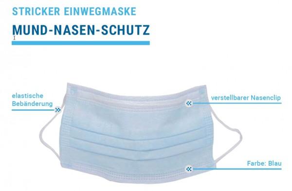 Mund-Nasen-Schutz Einwegmaske